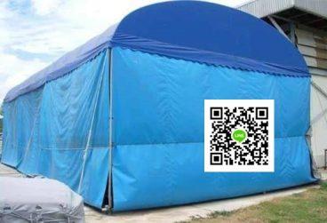 เต็นท์ผ้าใบขนาด 5x12x2.5 เมตร พร้อมผ้าใบชักรอกรอบพร้อมผ้าใบชักรอกรอบ